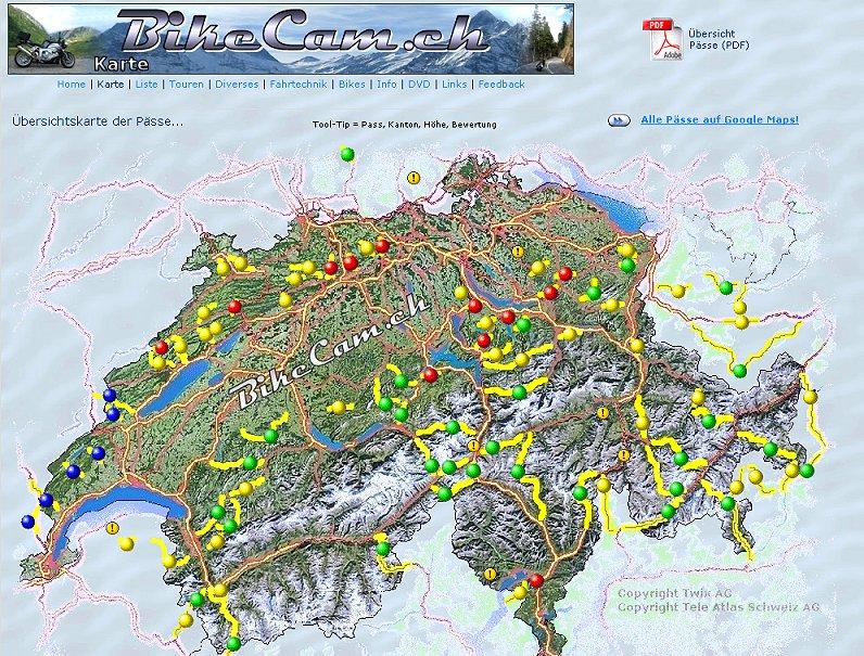 Alpenpässe Karte.90 Alpenpässe Auf Der Schulbank Bei Bikecam Ch Gaskrank Magazin
