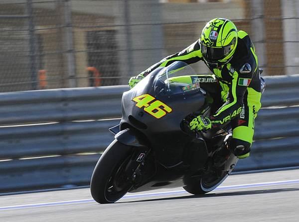 © FWeisse - Valentino Rossis erste Testfahrten mit der Ducati gingen gründlich daneben