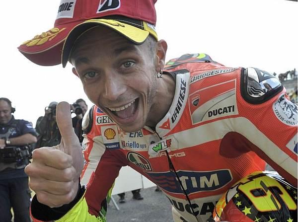 © Ducati - Superstar Valentino Rossi hat sich schon viele harte Duelle geliefert