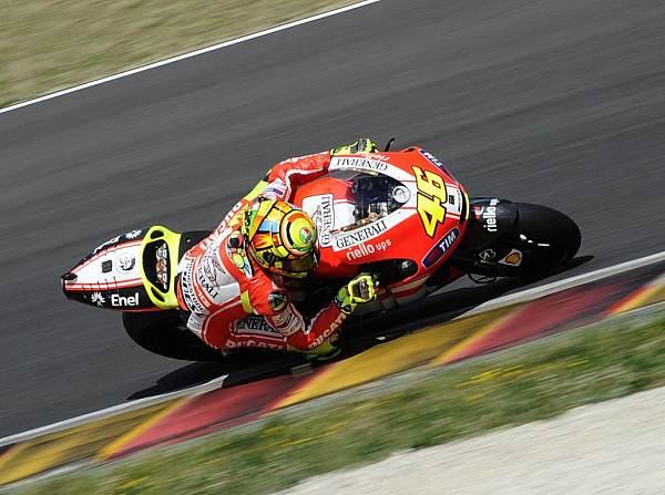 © Ducati - Valentino Rossi hatte beim Test der GP12 in Mugello sehr viel Spaß