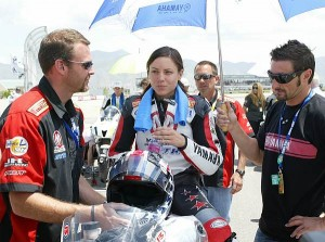 © Motorsport-Total.com - Melissa Paris vor ihrem Wildcard-Start in der Supersport WM 2009 in Utah