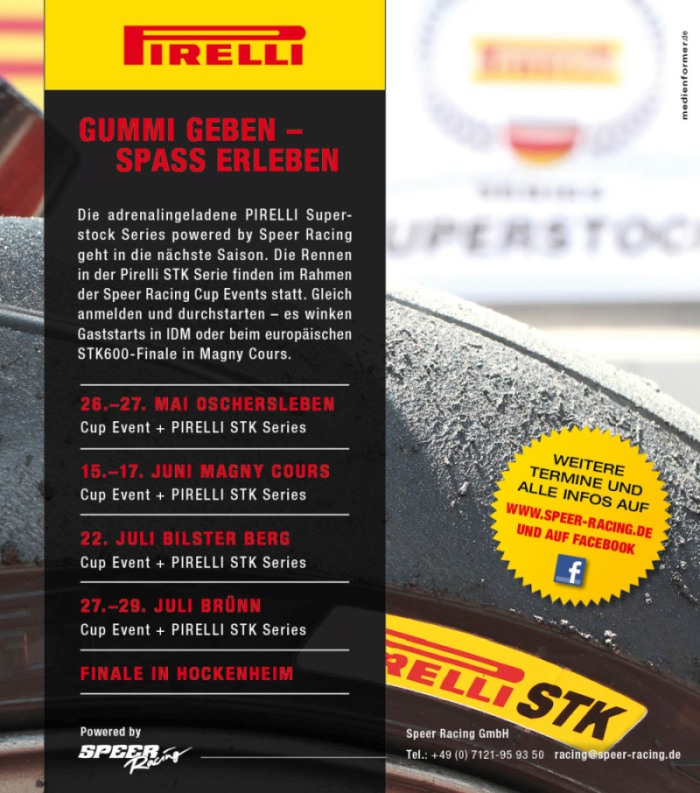 Speer Racing PIRELLI Superstock Series