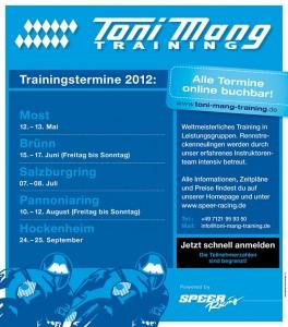 Toni Mang Trainingstermine 2012 by Speer Racing