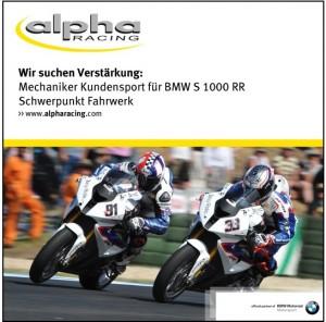 alpha Racing Stellenausschreibung