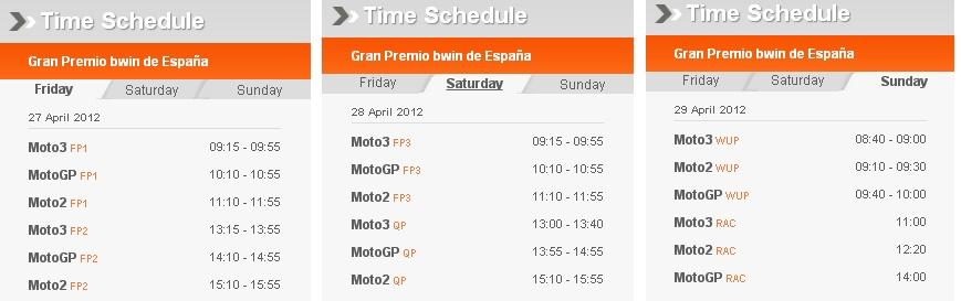 Motogp Zeitplan Jerez 2012