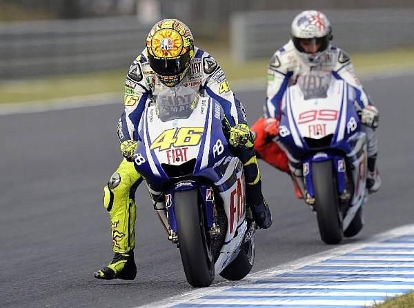Valentino Rossi Jorge Lorenzo © Yamaha