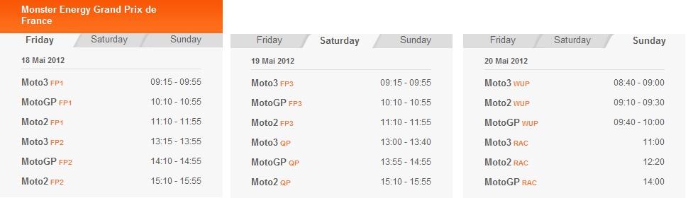 MotoGP Zeitplan in Le Mans