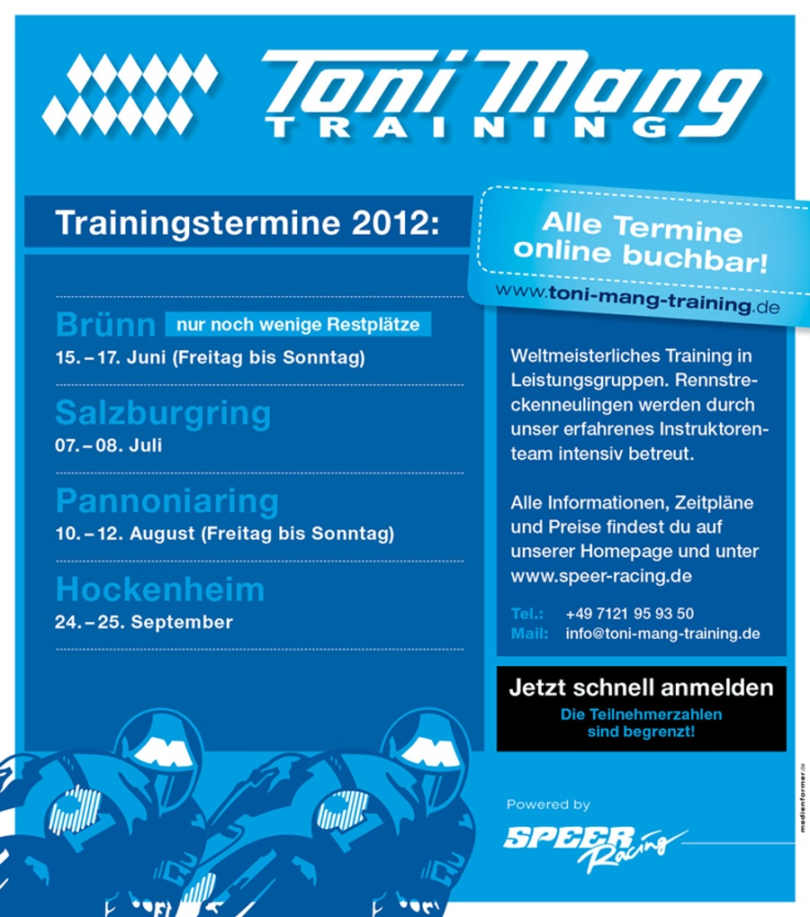 Toni Mang Training powered by Speer