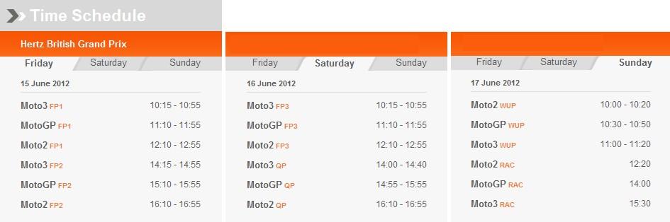 MotoGP Zeitplan Silverstone
