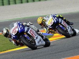 Jorge Lorenzo - Valentino Rossi © Yamaha
