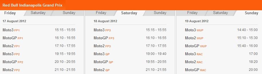 MotoGP-Zeitplan Indianapolis