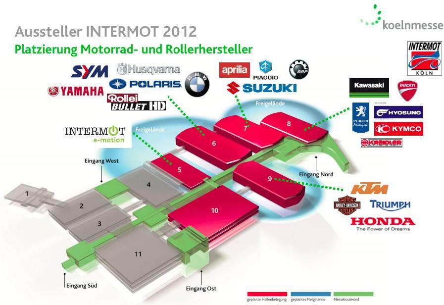 Intermot 2012 Hallenplan