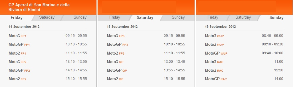 © MotoGP Misano (Italien) Zeitplan