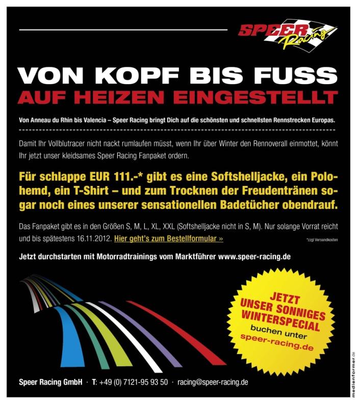 Speer Racing Fanpaket