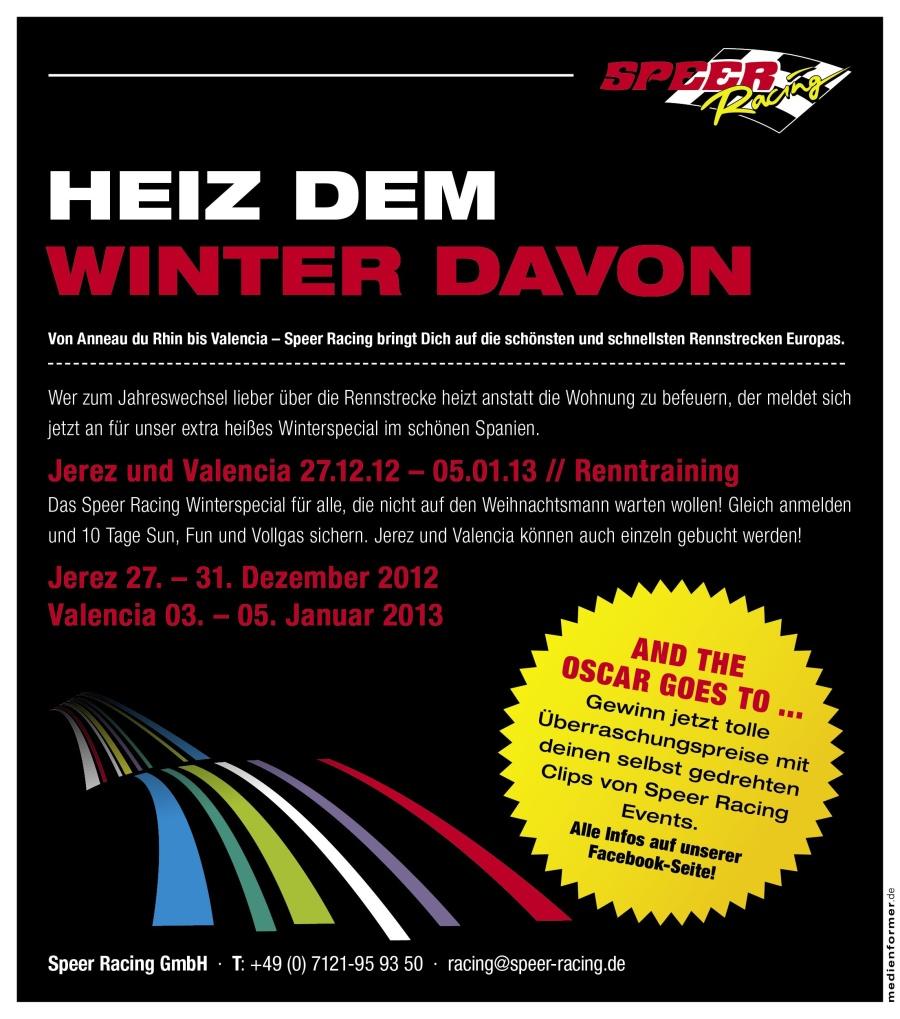Speer Racing Winterspecial