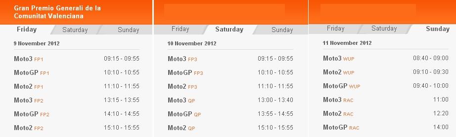 MotoGP Zeitplan Valencia