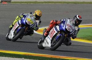 Jorge Lorenzo Valentino Rossi  © Yamaha