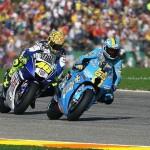 Loris Capirossi vor Valentino Rossi