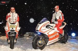 Ben Spies, Andrea Iannone - © Ducati