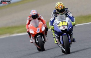 Casey Stoner, Valentino Rossi © Yamaha