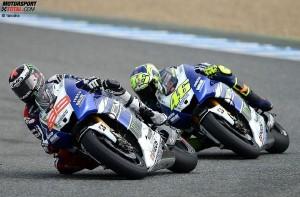 Jorge Lorenzo und Valentino Rossi - © Yamaha