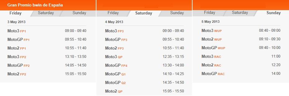 MotoGP Startzeiten in Jerez