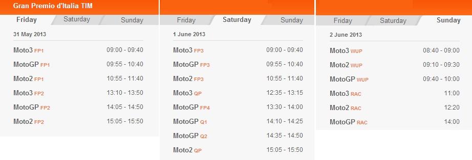 © MotoGP.com Startzeiten in Mugello