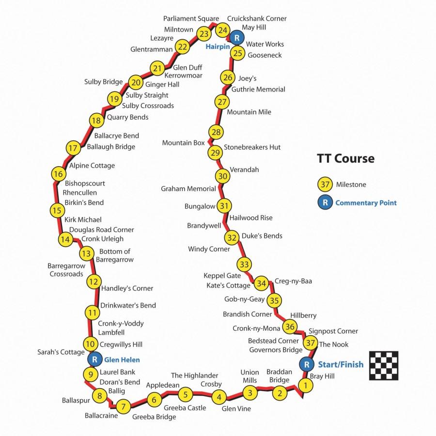 © www.iomtt.com - TT 2013-Streckenplan