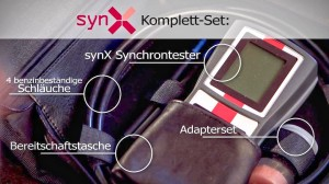 © x-log - SYNX Synchrontester Komplettset