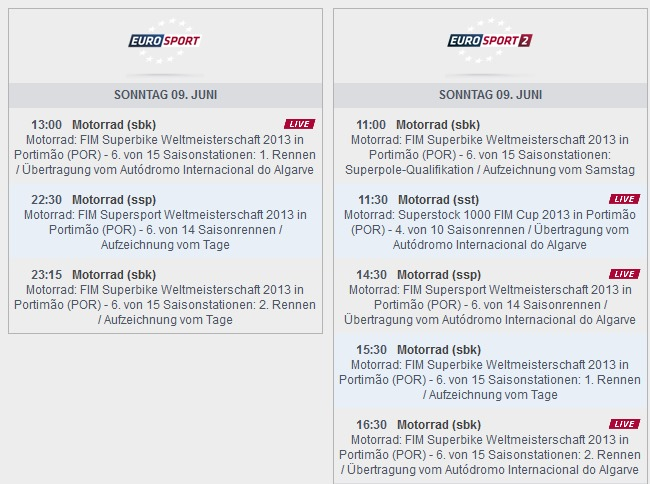 © www.eurosport.de – Sendezeiten Europort Portimao (anklicken zum vergrößern)