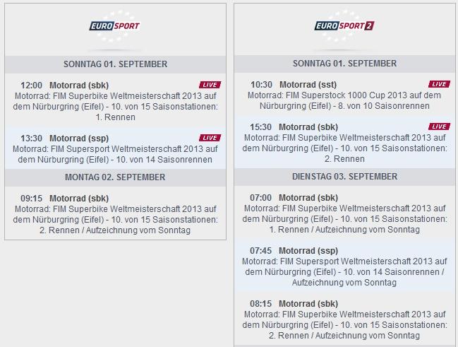© www.eurosport.de – Sendezeiten Europort Nürburgring (anklicken zum vergrößern)