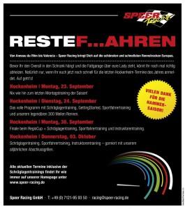 Speer Racing:  Abschlussheizen in Hockenheim