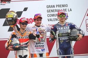 Marc Marquez, Daniel Pedrosa, Jorge Lorenzo - © Repsol