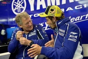 Valentino Rossi und Jeremy Burgess © Yamaha