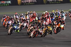 Sandro Cortese Moto2 Start Doha Katar 2014 - © FGlaenzel