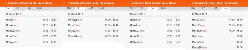 © MotoGP.com Startzeiten MotoGP Katar 2014