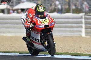 © Ducati - Für Cal Crutchlow war der Arbeitstag in Jerez nach drei Runden schon vorbei