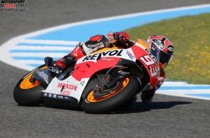 © Honda ProImages - Marc Marquez brannte beim Test in Jerez wieder die schnellste Zeit in den Asphalt