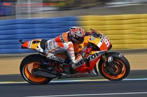 © FGlaenzel - Mit Abstand bester Honda-Pilot: Marc Marquez fuhr am Vormittag Bestzeit