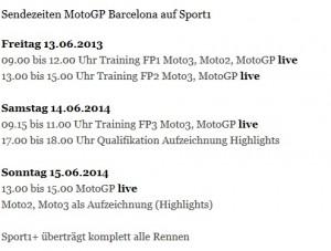 Sport1 MotoGP Barcelona
