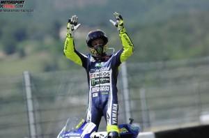 © Yamaha Motor Racing Srl - Valentino Rossi fuhr bei seinem 300. Grand Prix auf einen guten dritten Platz