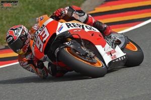 © FGlaenzel - Marc Marquez verdrängte Honda-Markenkollege Stefan Bradl von der Spitze