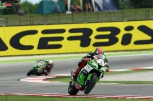 © Kawasaki - Tom Sykes gewann in Misano beide Rennen unangefochten