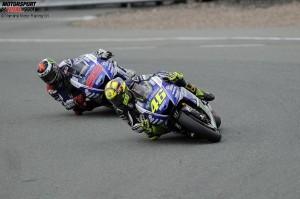 © Yamaha Motor Racing Srl - Noch ohne Sieg in der Saison 2015: Valentino Rossi und Jorge Lorenzo