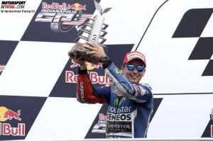 © Yamaha Motor Racing SrL - Jorge Lorenzo darf sich über eine gute Leistung und den zweiten Platz freuen
