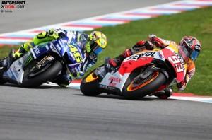 © Honda - Marc Marquez verlor heute das Duell gegen MotoGP-Legende Valentino Rossi