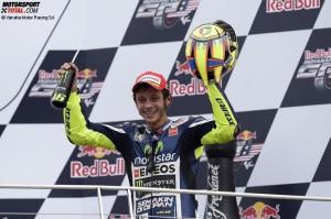 © Yamaha Motor Racing SrL - Valentino Rossi überquerte die Ziellinie in Indianapolis am Ende als Dritter