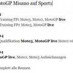 Sendezeiten MotoGP Misano