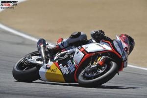 © Aprilia Racing - Sylvain Guintoli ist momentan erster Verfolger von Titelverteidiger Tom Sykes
