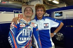 © Yamaha - Colin Edwards und Valentino Rossi waren von 2005 bis 2007 Teamkollegen